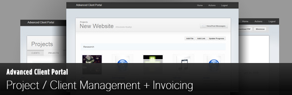 Novo site rrvjects Client Management Portal Projeto Advanced Client